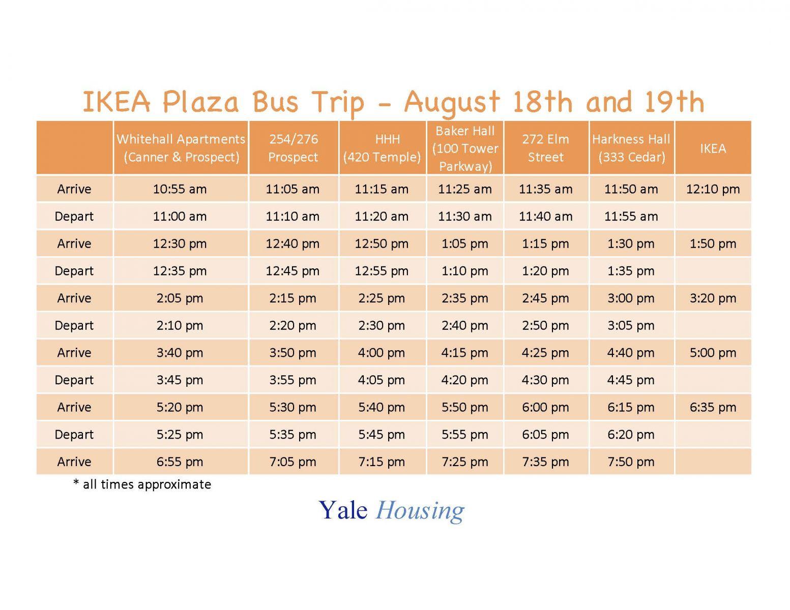 Bus Trip To Ikea And Hamden Plaza Yale Housing